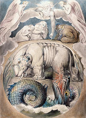 William Blake, Behemoth and Leviathan, ca. 1805-10