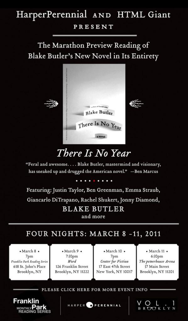 Blake Butler, Blake Butler marathon