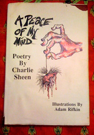 Charlie Sheen, Charlie sheen book, Charlie Sheen poetry